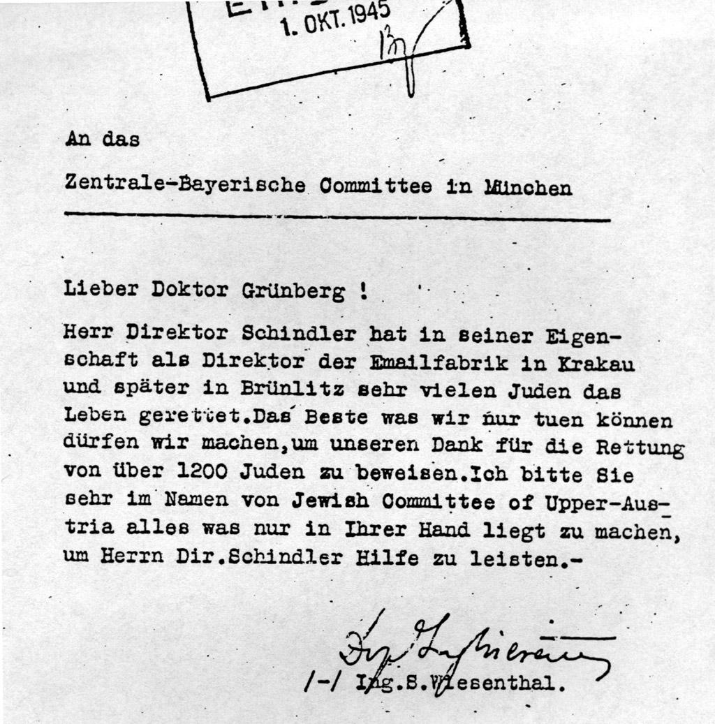 Muzeum Svitavy Oskar Schindler Biografie